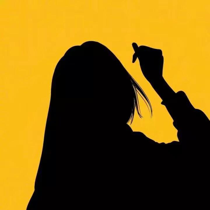 简约风格黄色背景黑色影子男女头像