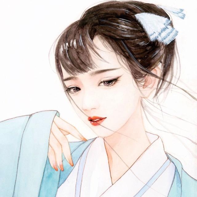 唯美qq女生古风手绘头像