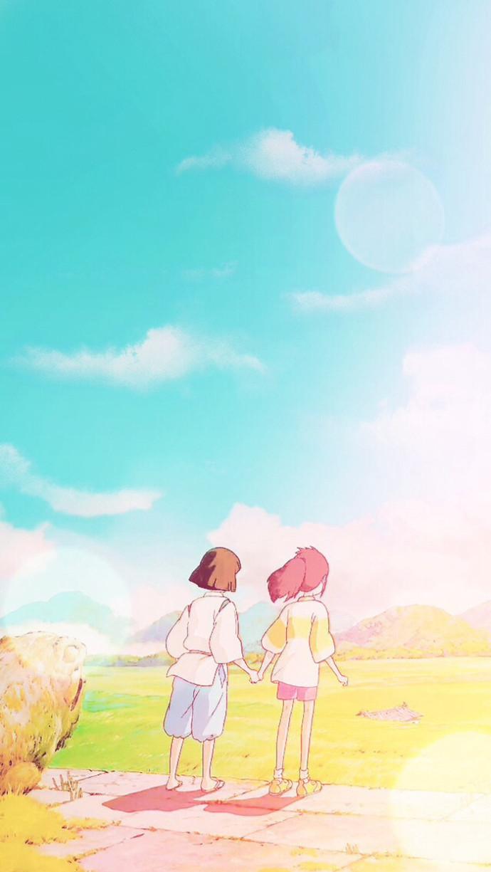 qq美女动画头像_宫崎骏的动画手机壁纸 每一帧都美的哇_动漫卡通手机壁纸-QQKW ...